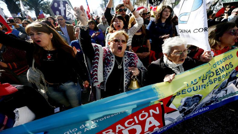 Massenproteste in Chile für ein gerechtes Rentensystem