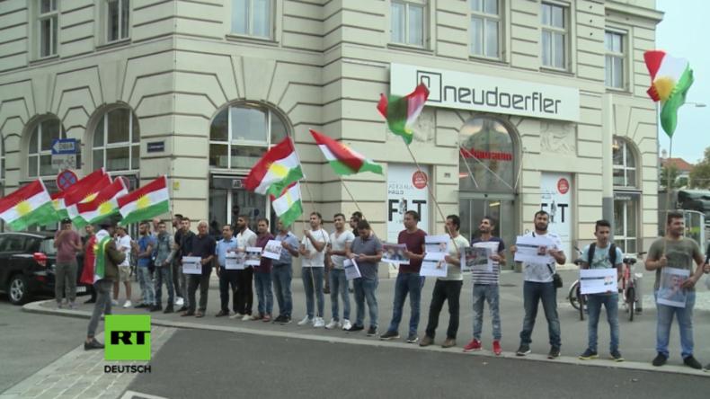 Österreich: Protest vor syrischer Botschaft in Wien gegen Gewalt an Kurden