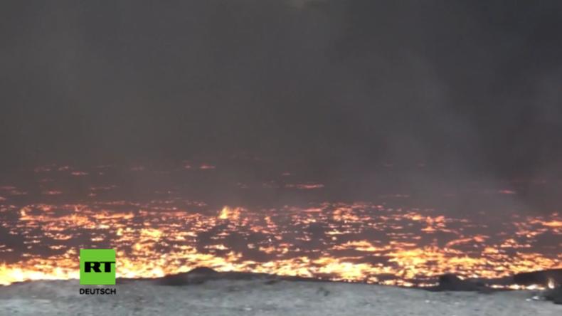 IS-Taktik der verbrannten Erde - Irakische Stadt brennt seit Tagen