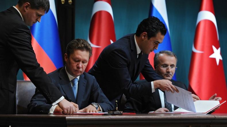 Gazprom verhandelt mit der Türkei über Umsetzung des Pipelineprojektes Turkish Stream