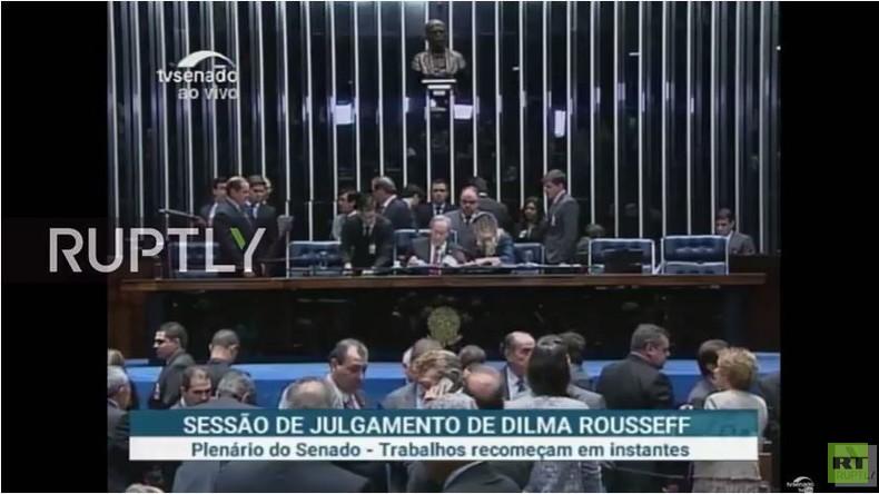 Live: Brasiliens Senat stimmt über Amtsenthebung von Dilma Rousseff ab