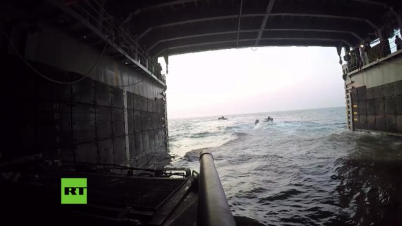 Odessa: US-Marines und ukrainische Seestreitkräfte bei gemeinsamer Militärübung an Schwarzmeer-Küste