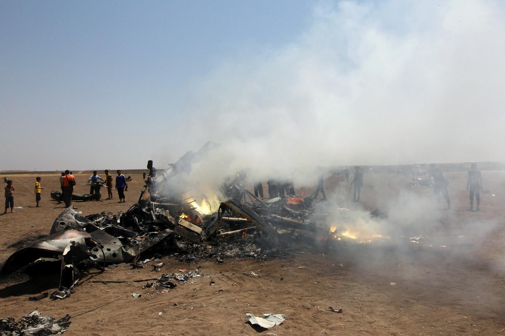 Russischer Hubschrauber bei humanitärer Mission über Syrien abgeschossen - Insassen tot [Video]