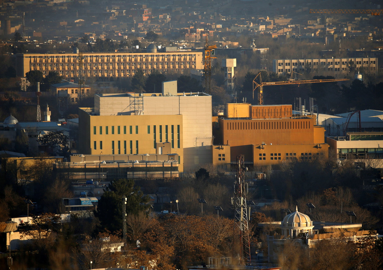 Ein Bild von der US-Botschaft im Diplomatenviertel von Kabul.