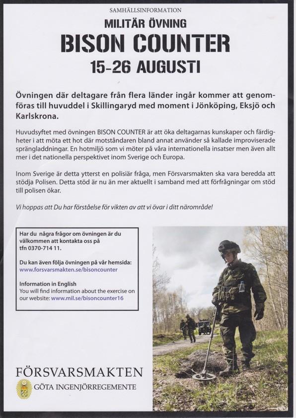 Internationale Terrorübungen in schwedischen Wohngebieten