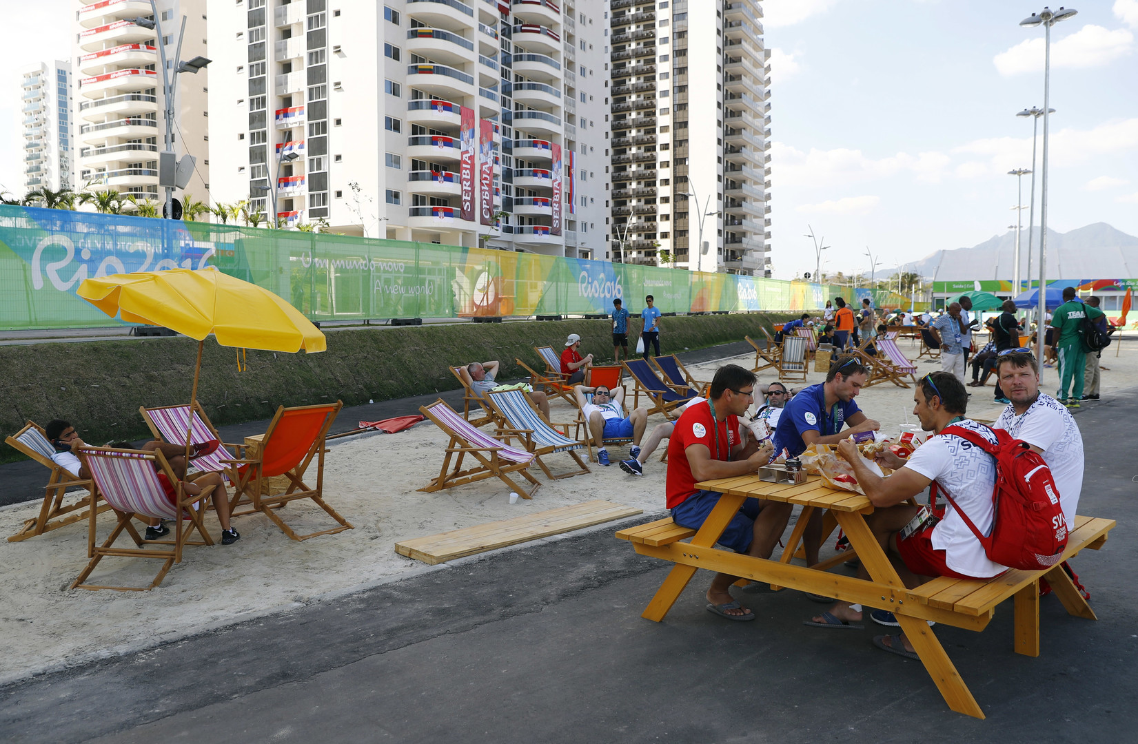 Slowakisches Nationalteam im Olympischen Dorf in Rio