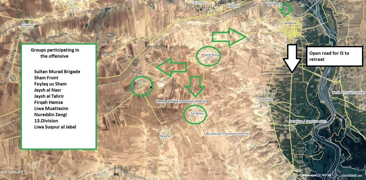 Syrien: Türkische Panzer rücken gegen Dscharablus vor – Massive Angriffe gegen Stellungen des IS