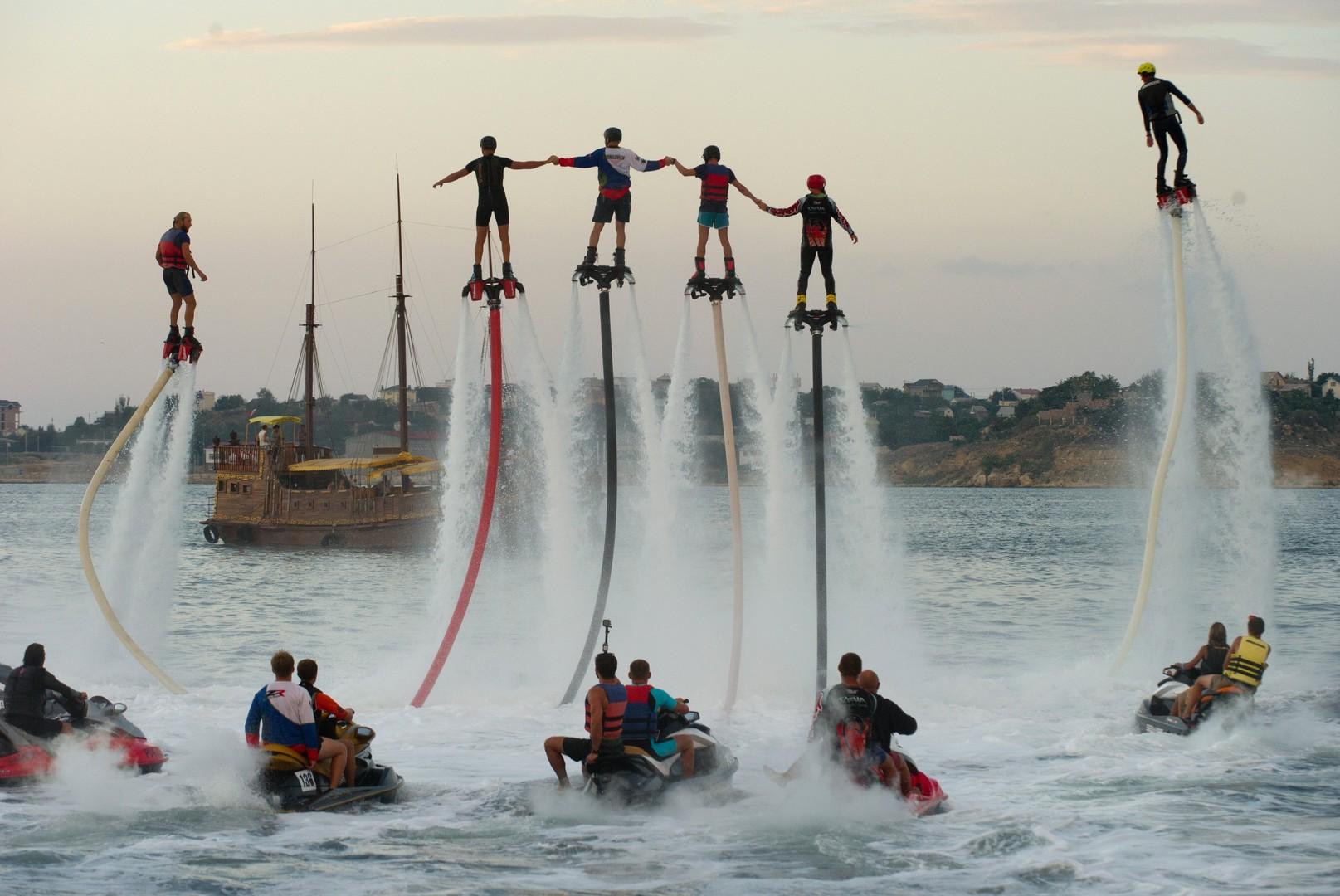 In den vergangenen fünf Jahren gewann Flyboarding viele Fans unter Extremsportlern.