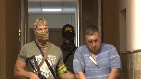 Ein von FSB-Mitgliedern verhafteter ukrainischer Diversant