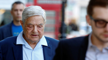 Finanzinvestor George Soros vor einer Rede im