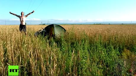 Das Gefühl der Freiheit reist immer mit - Jens Kwass bei einer seiner Wanderungen.