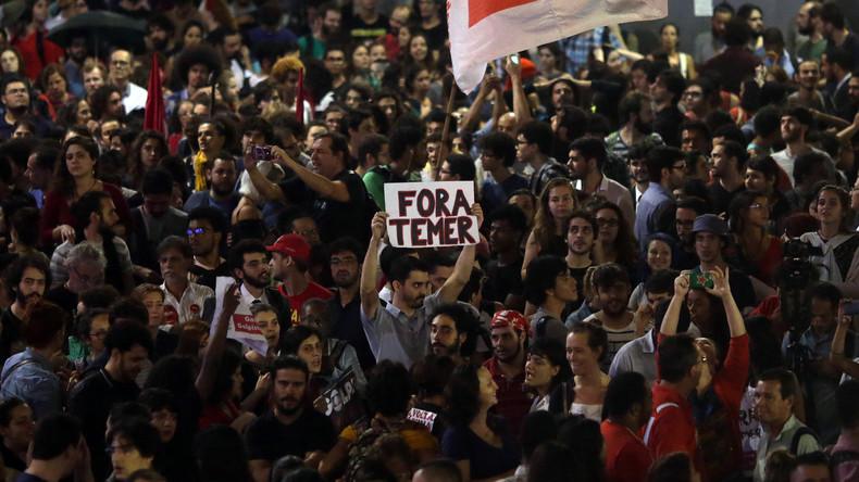 Landesweite Proteste nach Absetzung von Präsidentin Dilma Rousseff