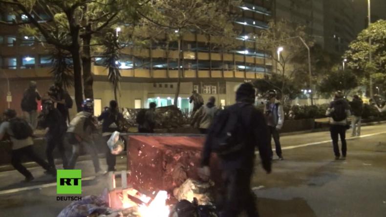 Brasilien: Proteste gegen Dilma Rousseffs Absetzung enden wieder in Gewaltausschreitungen
