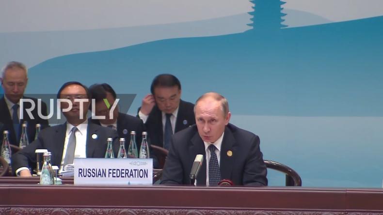 Live: Wladimir Putin gibt Pressekonferenz nach G20-Gipfel in China