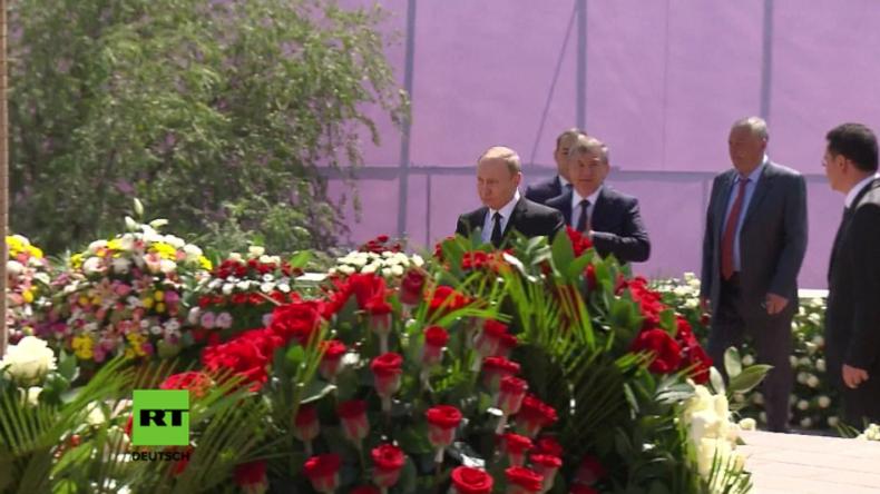 Putin zu Besuch in Usbekistan, um sich vom verstorbenen Präsidenten Karimow zu verabschieden