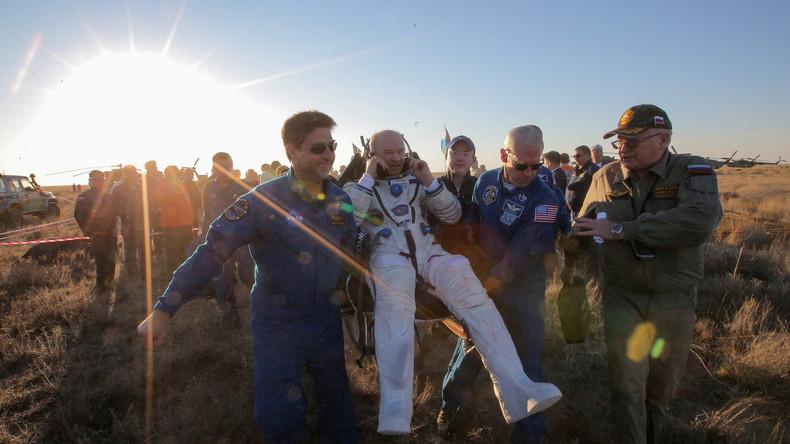 Wieder zu Hause – ISS-Kosmonauten in Kasachstan gelandet