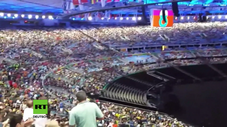 """Paralympics-Eröffnung in Rio: """"Temer Raus!"""" Zehntausende Protestler übertönen neuen Präsidenten"""