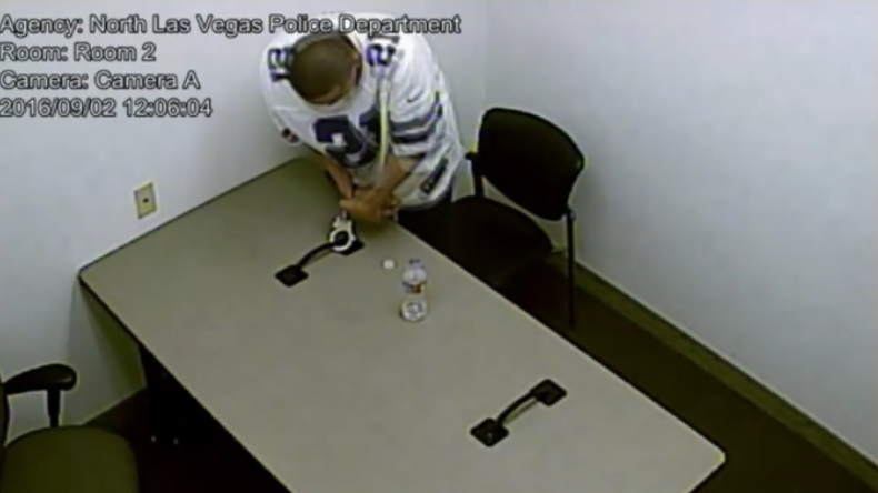 Las Vegas: Überwachungsvideo zeigt filmreife Flucht aus einem Verhörraum