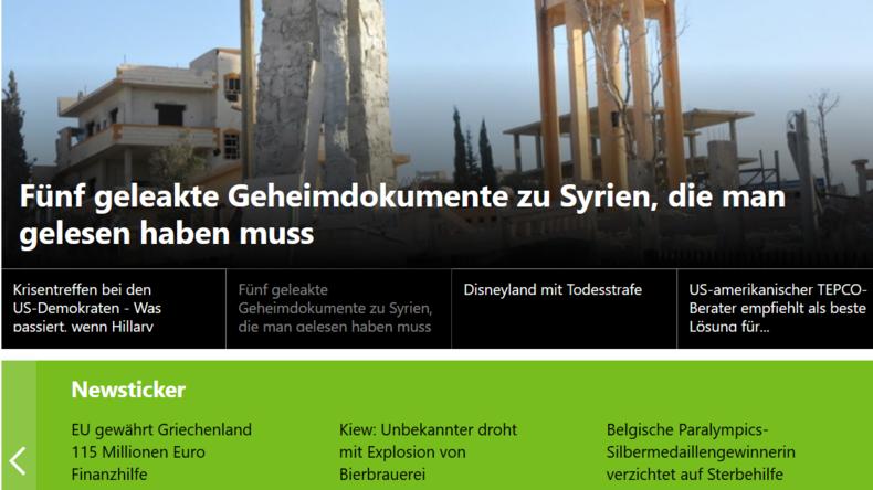 Neu auf unserer Seite: Der RT Deutsch Newsticker