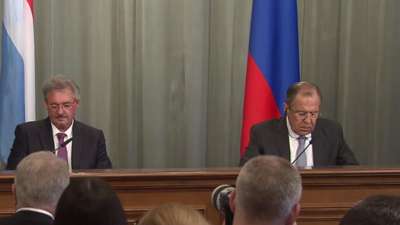 Live: Außenminister von Russland und Luxemburg geben gemeinsame Pressekonferenz