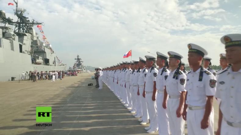 China und Russland starten bislang größte gemeinsame Marine-Übung
