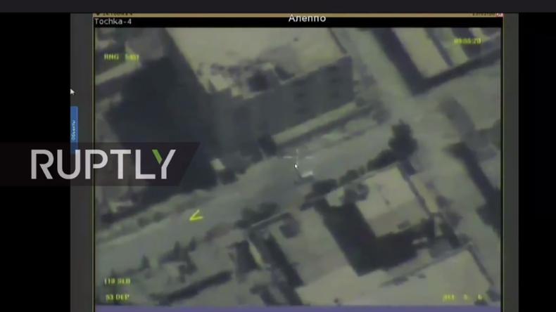 Live von den Aufnahmen einer russischen Aufklärungsdrohne über Ost-Aleppo