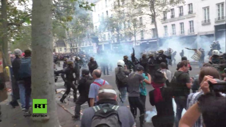 Chaos in Paris - Massive Ausschreitungen bei Protest Tausender gegen Arbeitsrechtsreformen