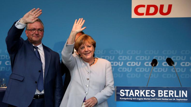 Wahlkampf in Berlin: Schlager inklusive Pfeifkonzert für Merkel und gescholtene CDU