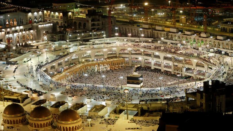 Blick auf die Kaaba, Große Moschee von Mekka, 9. September 2016.