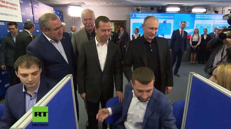 Medwedew und Putin  nach den Duma-Wahlen: Bürger stimmen für Einiges Russland