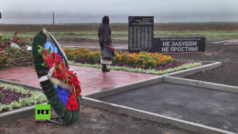 """""""Wir vergeben nicht, wir vergessen nicht!"""" - Denkmal für all die Getöteten in der Ostukraine"""