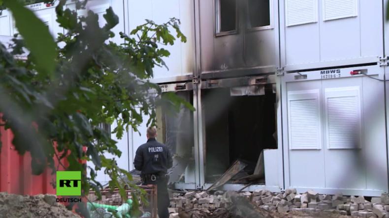 Bremen: Unbekannte setzen Containerdorf für Flüchtlinge in Brand