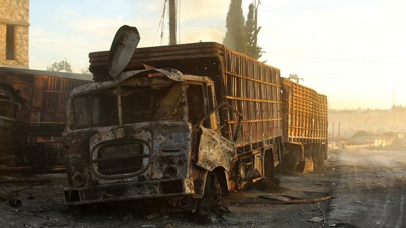 Bilder des in Syrien zerstörten UN-Hilfkonvois