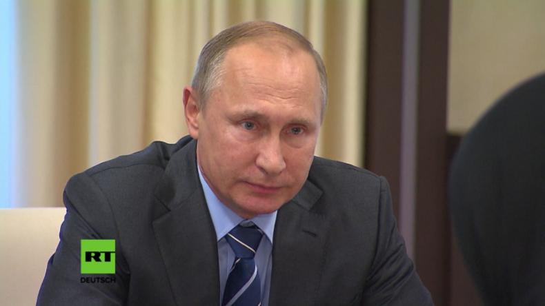 """Putin zu Eltern des getöteten Polizisten: """"Ich danke Ihnen für Ihren Sohn. Er ist ein wahrer Held!"""""""