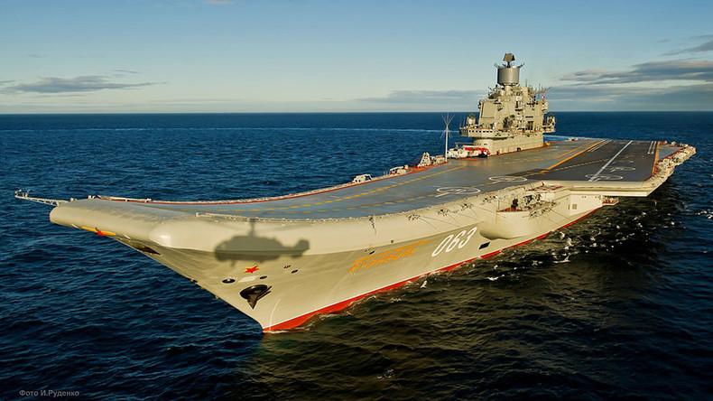"""Der russische Flugzeugträger """"Admiral Kuznetsow"""" soll im Oktober ins östliche Mittelmeer verlegt werden. Von dort aus soll er unter anderem die syrischen Streitkräfte im Kampf gegen den Terror unterstützen.  Bildquelle: Mil.ru/ CC BY 4.0"""