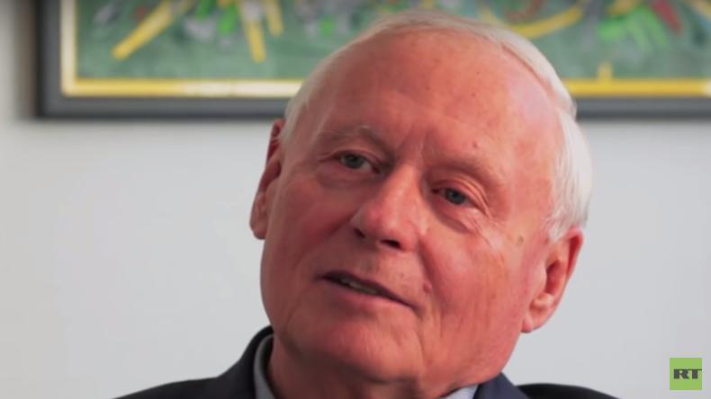 Oskar Lafontaine (Die Linke) im RT Deutsch-Gespräch.