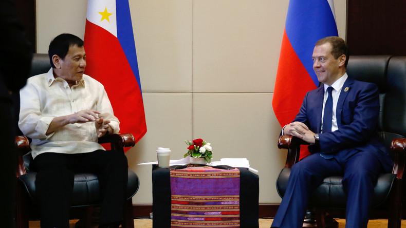 Duterte: Ich will Rubikon zwischen mir und den USA überschreiten und plane Allianz mit Russland