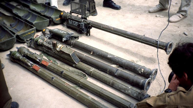 Diese Stinger Boden-Luftraketen beschlagnahmte in den 1980er Jahren die afghanische Armee von den Mudschahedin. Die USA hatten sie über Pakistan an ihre bfreundeten Aufständischen geliefert.