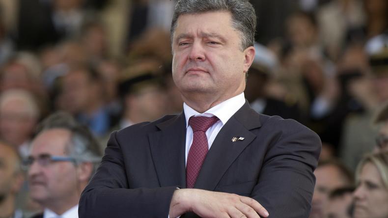 Poroschenko während der Feierlichkeiten zum 70. Jahrestag der Alliirten-Landung in Normandie in Frankreich am 28.05.2016, zwei Tage nach seiner Wahl zum Präsidenten der Ukraine