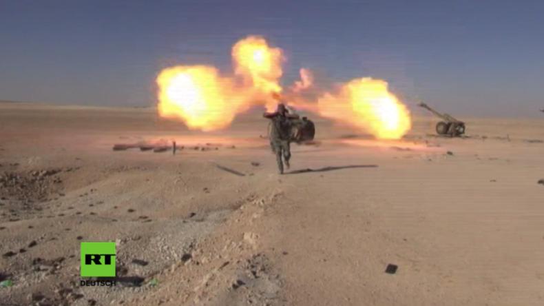 Die syrische Armee führt eine Großoffensive gegen IS-Stellungen östlich von Homs.