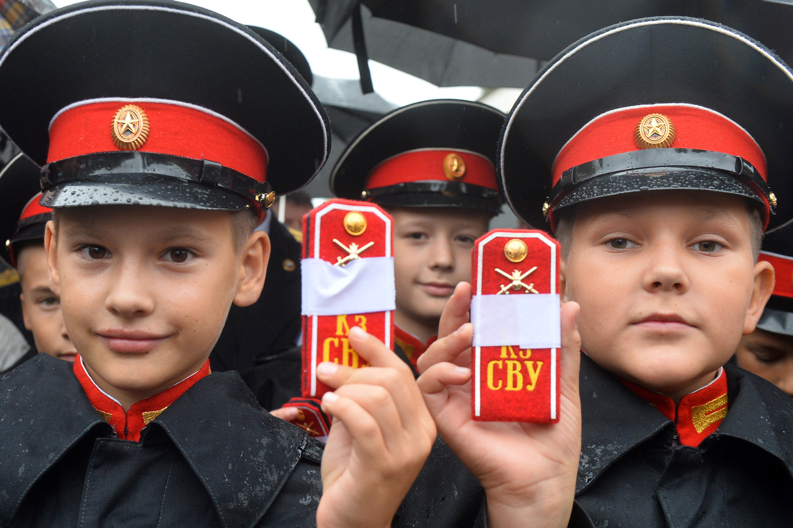 Zöglinge der Suworow-Militärschule in Kasan