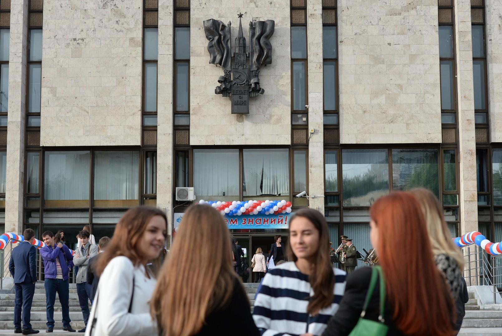 Sergej Lawrow trifft sich mit jungen Diplomaten in Moskau