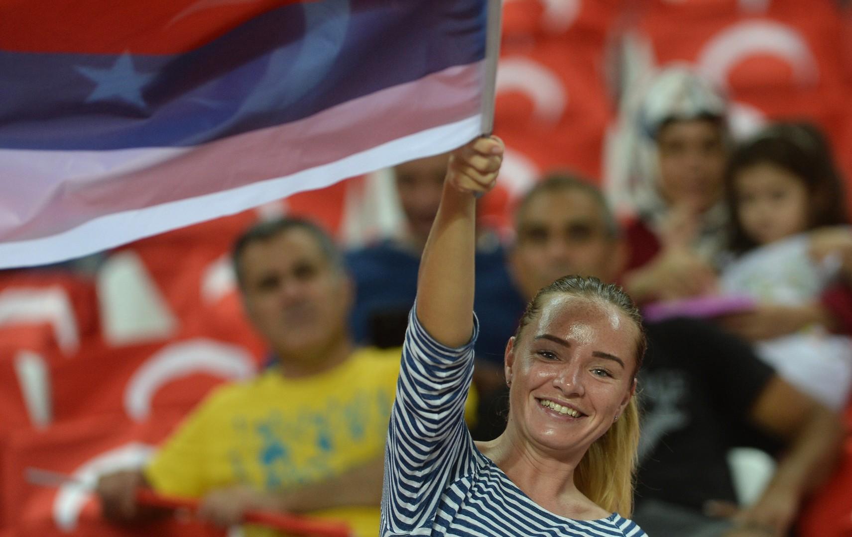 Russische Fußballbegeisterte