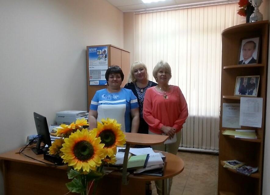 Von links nach rechts: Meine Mathelehrerin, die Korektorin sowie die Sekretärin,