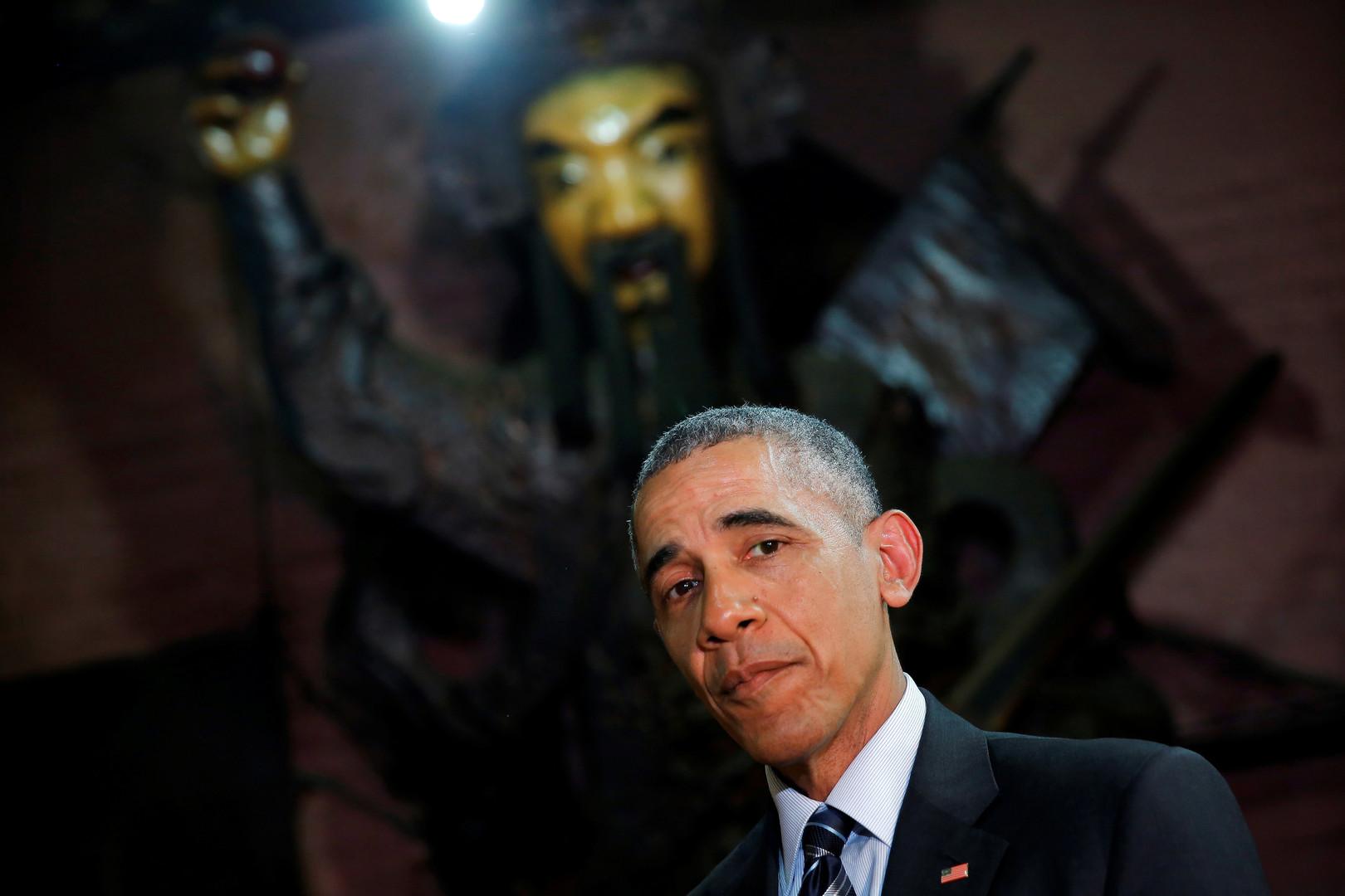 Ein böser Geist für China? Barack Obama besucht die Jade-Pagode in Ho Chi Minh Stadt, Vietnam, Mai 2016.