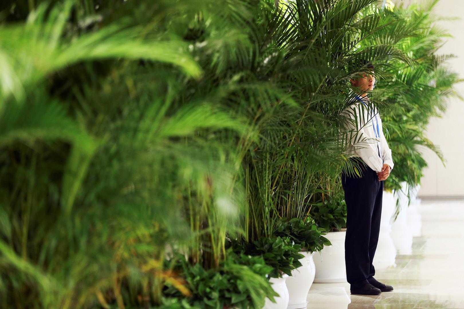 Wachmann am Veranstaltungsort des G20-Gipfels
