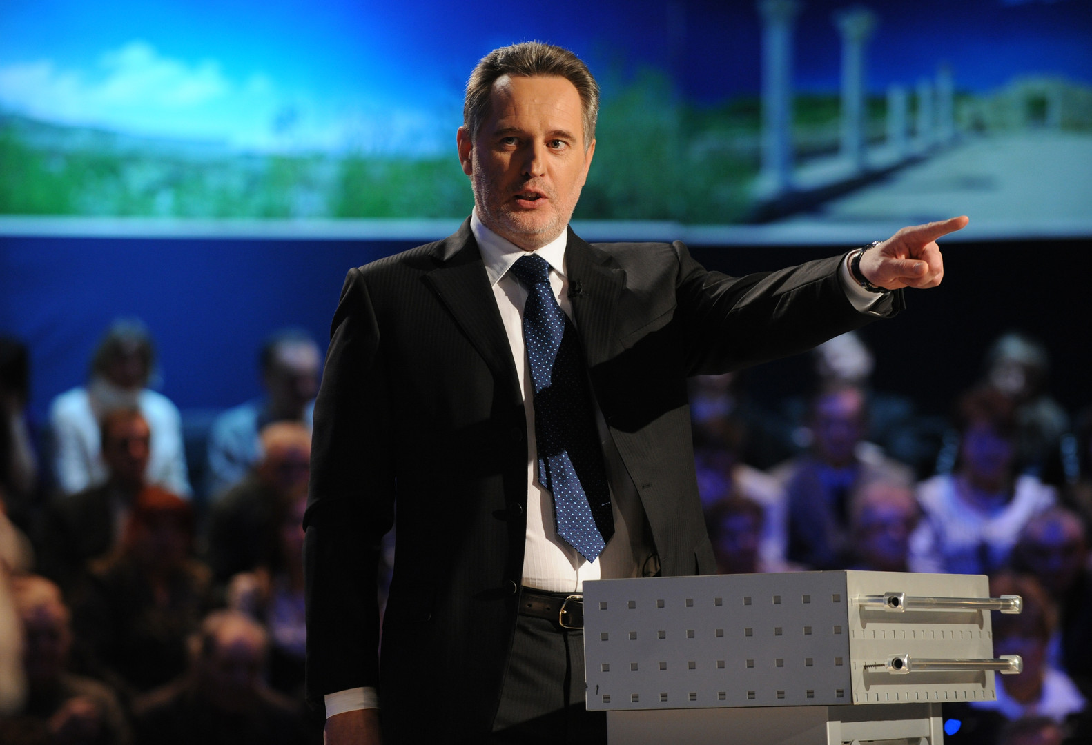 Der Unternehmer Dmitri Firtasch während einer Sendung bei Inter im Jahr 2009