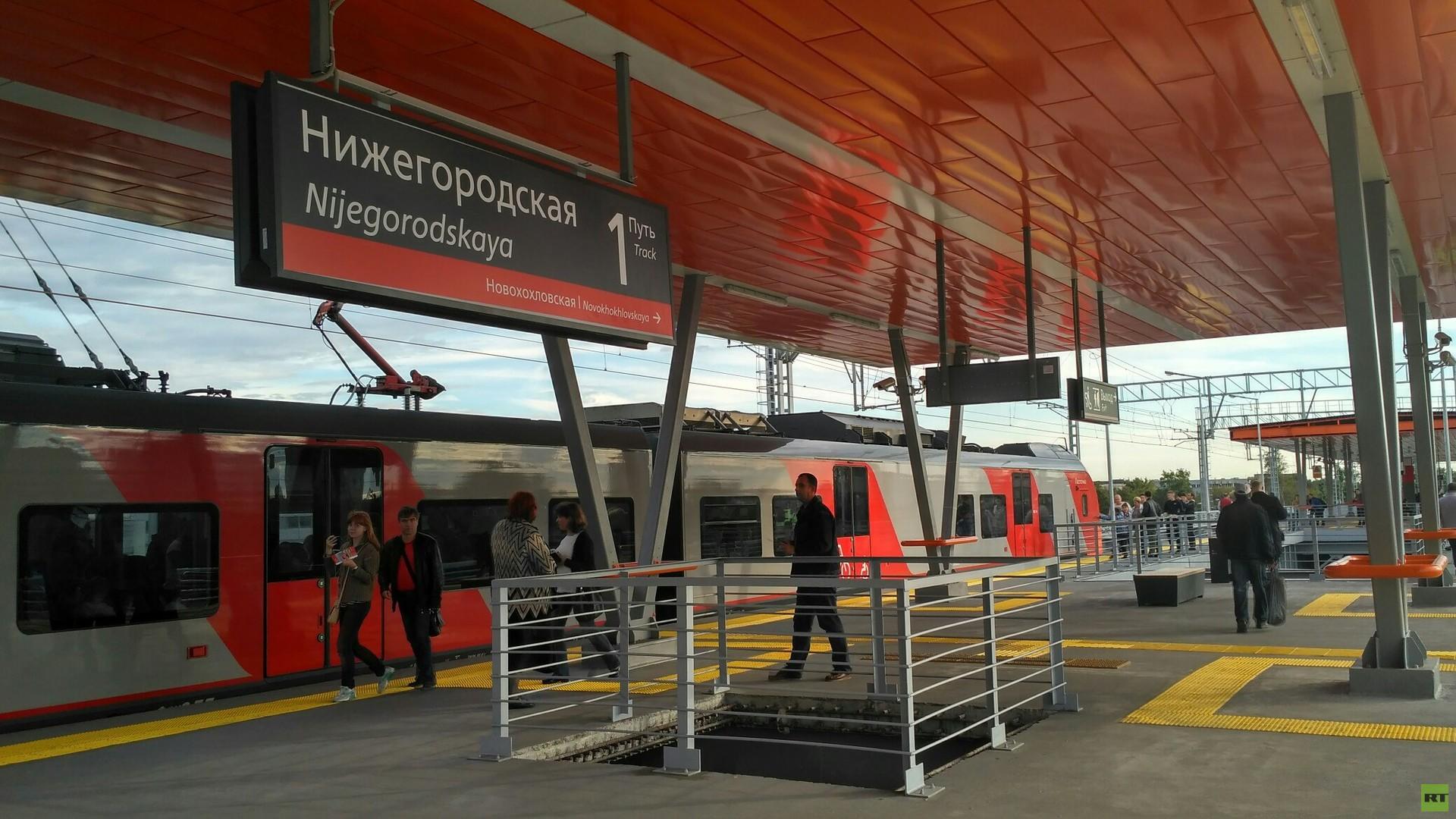 Für eine bessere Orientierung wird jede Station in einer eigenen Farbe gehalten.