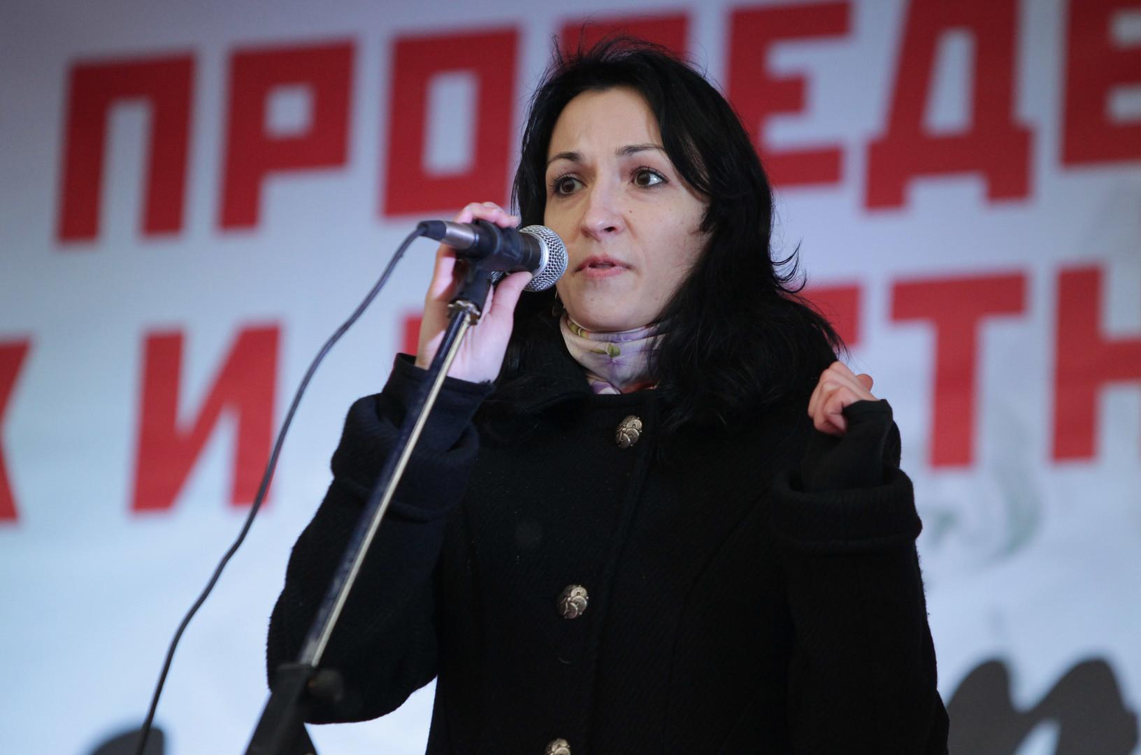 "Anastasia Udaltsov, Aktivistin der ""Linken Front"""