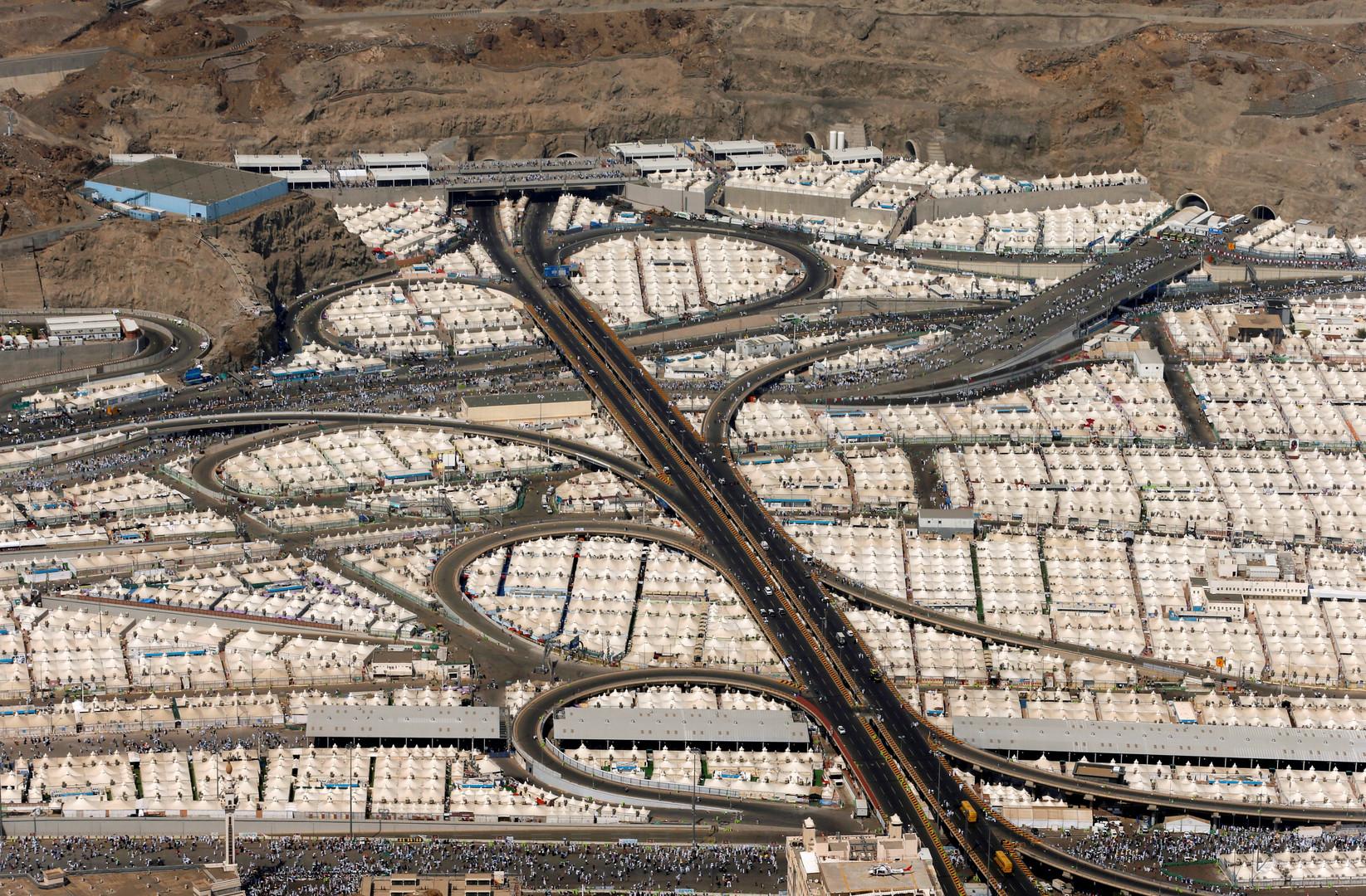 Luftaufnahme der Pilgerzelte in Mekka.